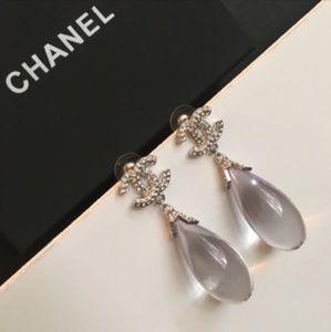 XL Chanel Dangle Earrings